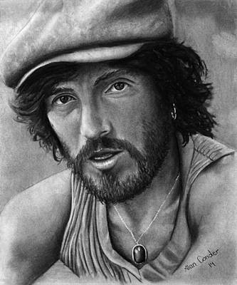 Bruce Springsteen Drawing - Springsteen by Alan Conder