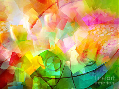 Digital Art - Springtime Abstract by Lutz Baar