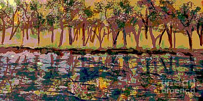 Springtime Along The Muddy River Art Print by Rita Brown