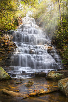 Springtime At Benton Falls Art Print by Debra and Dave Vanderlaan