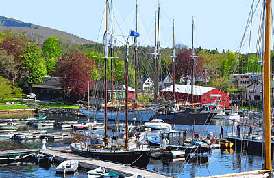 Digital Art - Springtime At The Harbor by Kirt Tisdale