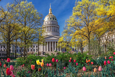Photograph - Springtime At The Wv Capitol by Mary Almond