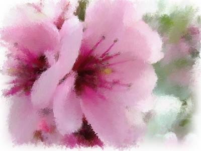 Fushia Mixed Media - Springtime Beauty by Renee Skiba
