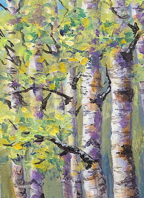 Springtime Birches Art Print
