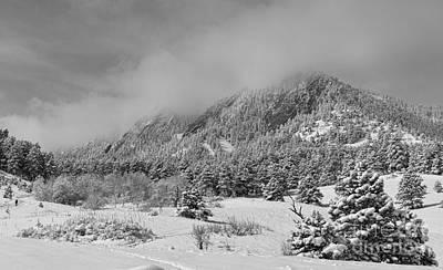 Photograph - Springtime Colorado Rocky Mountains Boulder Bw by James BO Insogna
