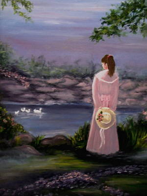 Floating Girl Painting - Springtime Dreamin by Tammy Rogers