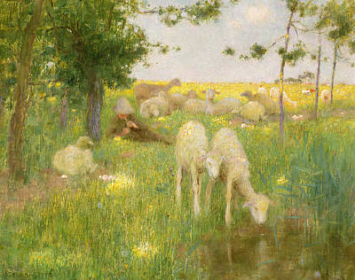 Sheep Painting - Springtime by Edward Stott