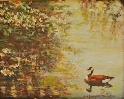 Longwood Gardens Painting - Springtime by Eva Ramanuskas