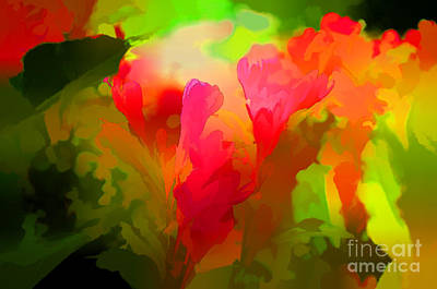 Photograph - Springtime Flowers Abstract by Luther Fine Art