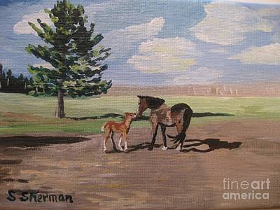 Painting - Springtime Foal by Stella Sherman