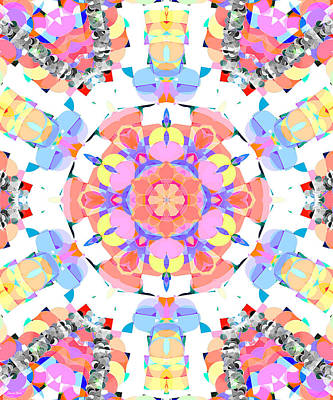 Digital Art - Springtime Geometry 3 by Shawna Rowe