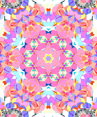 Digital Art - Springtime Geometry 4 by Shawna Rowe