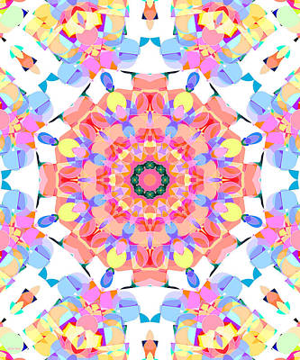 Digital Art - Springtime Geometry 5 by Shawna Rowe