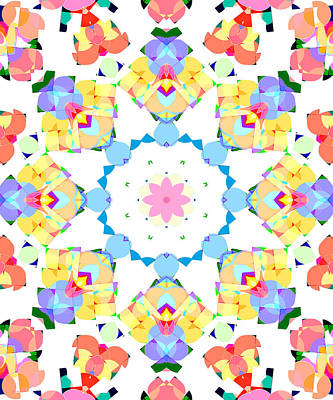 Digital Art - Springtime Geometry by Shawna Rowe