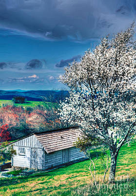 Shed Painting - Springtime In The Blue Ridge Mountains II by Dan Carmichael