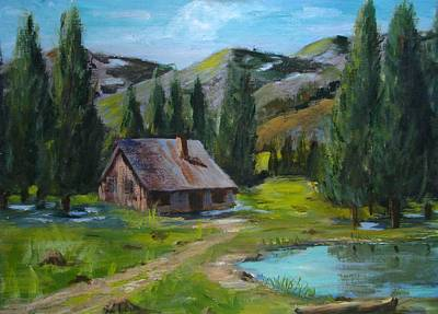 Springtime In The High Country Art Print by Judi Pence