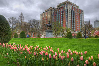 Springtime In The Public Garden - Boston Art Print