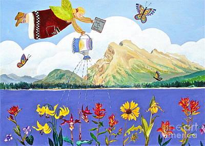 Banff Artist Painting - Springtime In The Rockies by Virginia Ann Hemingson