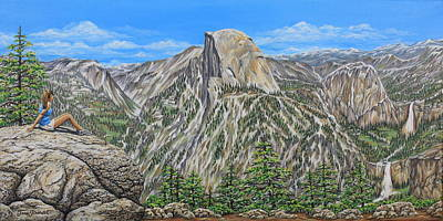 Painting - Springtime In Yosemite Valley by Jane Girardot