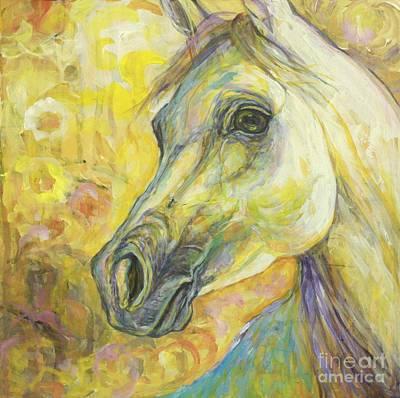 Horse Painting - Springtime Joy by Silvana Gabudean Dobre