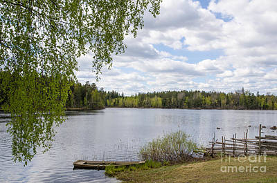 Photograph - Springtime Lake View by Kennerth and Birgitta Kullman