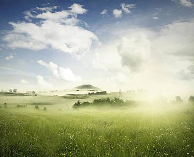 Spring Landscape Photograph - Springtime Meadow by Les Cunliffe