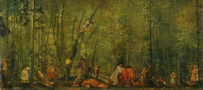 Arthur Bowen Davies Painting - Springtime Of Delight by Arthur Bowen Davies