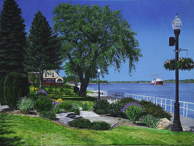 Painting - Springtime On The Boardwalk by Vicky Path