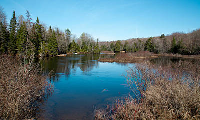 Mountain Photograph - Springtime On The Moose River - Old Forge New York by David Patterson
