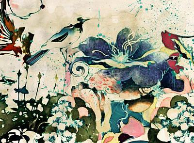 Springtime Ornamental Vintage Art Print