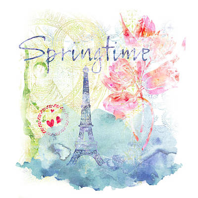 Digital Art - Springtime Paris by Linda Carruth