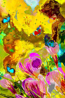 Springtime Splash Art Print by Mayhem Mediums