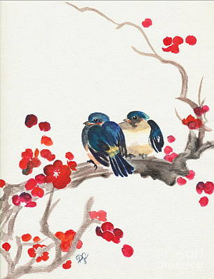 Painting - Springtime Sweethearts by Dale Jackson