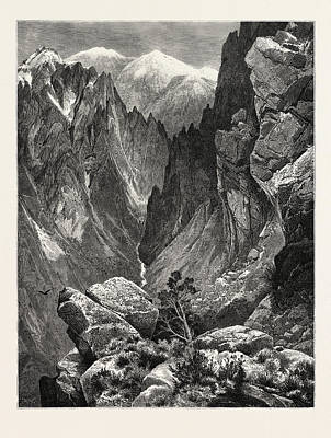 Springville Canyon. Thomas Moran February 12 Art Print by American School