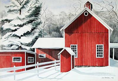 Springwater Barns Art Print