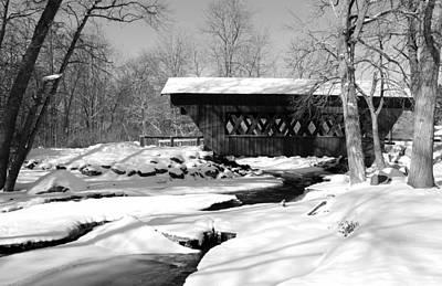 Springwater Covered Bridge Art Print