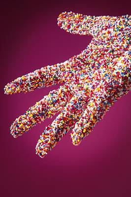 Sprinkle Covered Hand Art Print