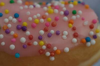 Sweet Photograph - Sprinkled Donut by The Art Of Marilyn Ridoutt-Greene