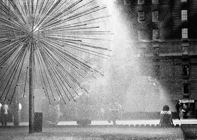 Photograph - Sprinkler On Sixth Avenue by Dave Beckerman