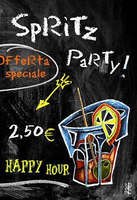 Spritz Party Happy Hour - Aperitif Venice Italy Art Print