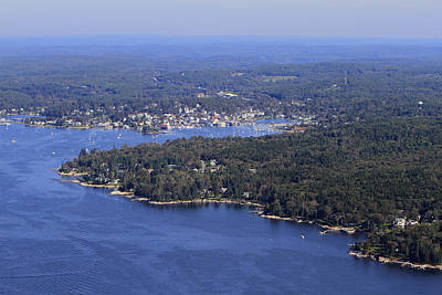 Spruce Point, Boothbay Harbor, Maine Art Print