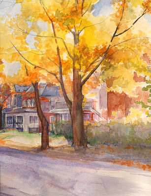 Painting - Spruce Street Maples by Nancy Watson