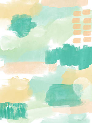 Abstract Royalty-Free and Rights-Managed Images - Spumoni- Abstract Painting by Linda Woods
