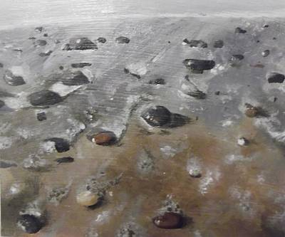 Art Print featuring the painting Spurn Point Beach by Cherise Foster