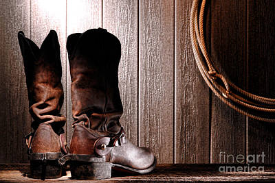 Lariat Photograph - Spurs On Cowboy Boots Heels by Olivier Le Queinec