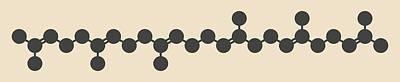 Squalene Natural Hydrocarbon Molecule Art Print
