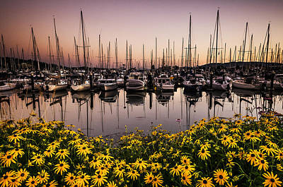 Squalicum Harbor After Sunset Art Print by Paul Conrad