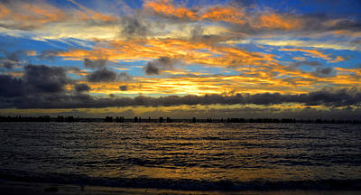 Tropical Storm Photograph - Squall Line At Sunset by David Lee Thompson