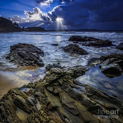 Photograph - Squalls On Ber Beach Galicia Spain by Pablo Avanzini