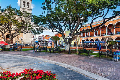 Photograph - Square At  Independence Plaza Campeche by Jo Ann Snover